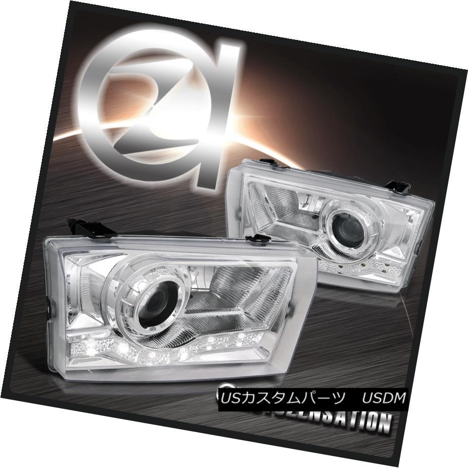 ヘッドライト 99-04 F250 Excursion Chrome SMD LED Strips Projector Headlights Head Lamps 99-04 F250エクスカーションクロムSMD LEDストリッププロジェクターヘッドライトヘッドランプ