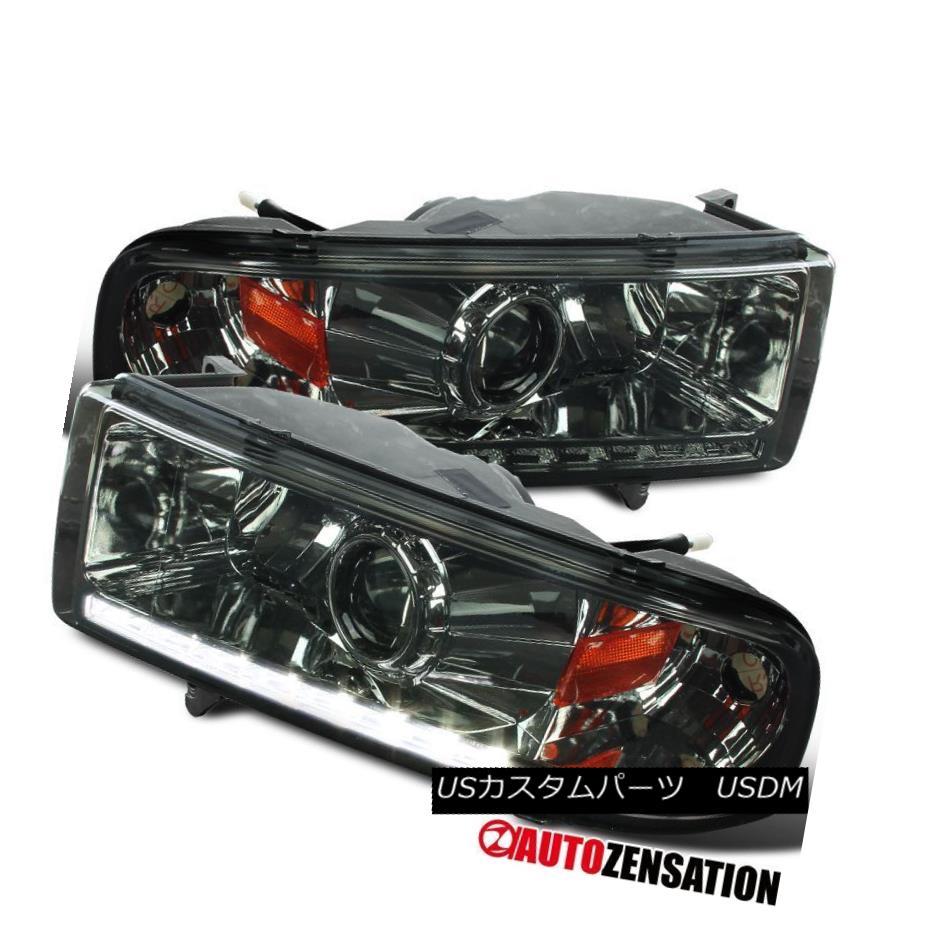 ヘッドライト 1994-2001 Dodge Ram 1500/2500/3500 SMD LED DRL Strip Projector Headlights Smoke 1994-2001 Dodge Ram 1500/2500/3500 SMD LED DRLストリッププロジェクターヘッドライトスモーク