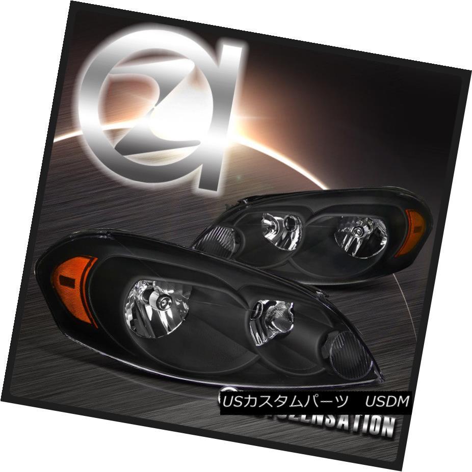 ヘッドライト Chevy 06-07 Monte Carlo 06-13 Impala Euro Crystal Black Headlights シボレー06-07モンテカルロ06-13インパラユーロクリスタルブラックヘッドライト