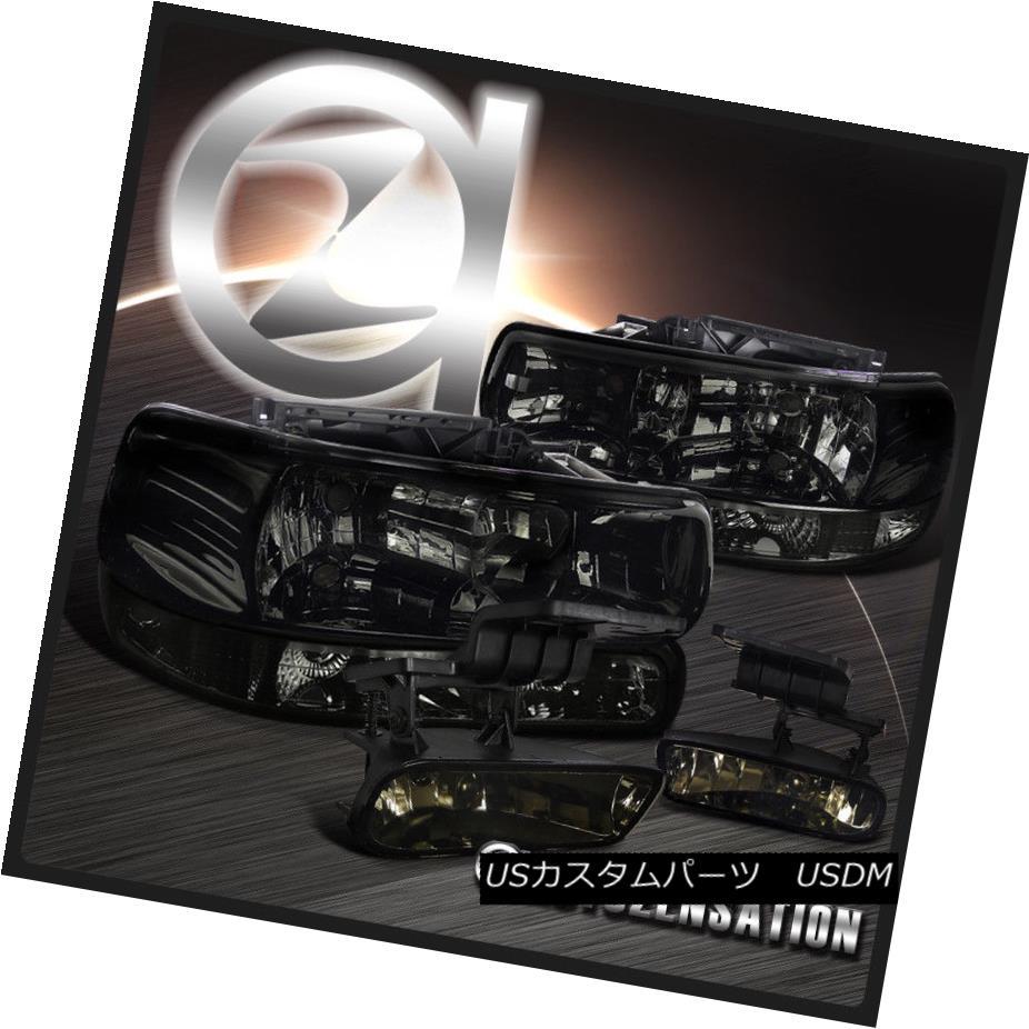 ヘッドライト 99-02 Silverado 00-06 Tahoe Smoke Headlights+Bumper Lights+Tinted Fog Lamps 99-02 Silverado 00-06タホの煙のヘッドライト+ブーケ 、ライト+着色フォグランプ