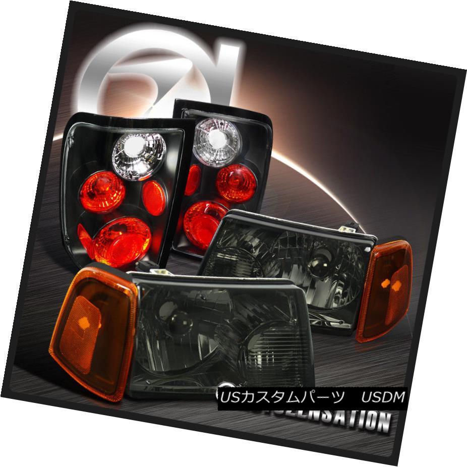 ヘッドライト 01-05 Ranger Euro Smoke Headlights+Corner Lamps+Black Tail Brake Lights 01-05レンジャー・ユーロ・スモーク・ヘッドライト+コルク nerランプ+ブラック・テール・ブレーキ・ライト