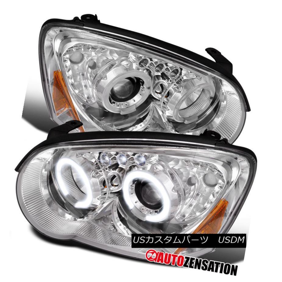 ヘッドライト For 04-05 Subaru Impreza Chrome Clear Dual Halo LED Projector Headlights 04-05スバルインプレッサクロームクリアデュアルハローLEDプロジェクターヘッドライト用