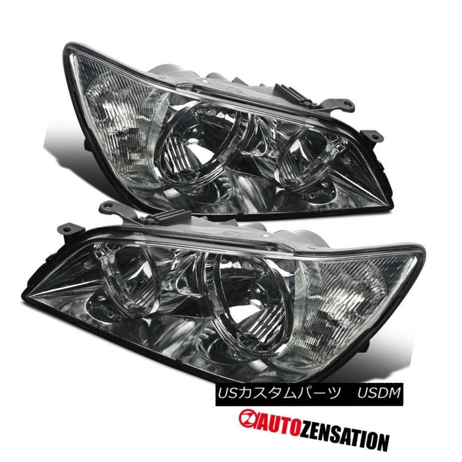 ヘッドライト 2001-2005 Lexus IS300 Replacement Smoke Front Headlights Driving Head Lamp Pair 2001-2005レクサスIS300交換式スモークフロントヘッドライトドライビングヘッドランプペア