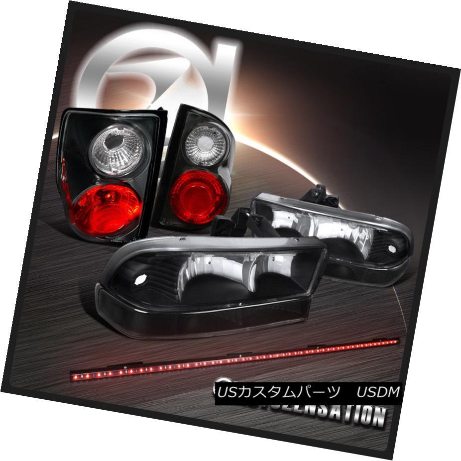 ヘッドライト 98-04 S10 Blazer Black Crystal Headlights+Bumper+Tail Lights+LED Tailgate Bar 98-04 S10 Blazer Blackクリスタルヘッドライト+ Bum  +テールライト+ LEDテールゲートバー