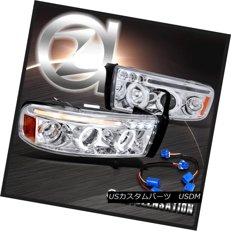ヘッドライト 1994-2001 Dodge Ram 1500 2500 3500 Sport Chrome LED Halo Projector Headlights 1994-2001 Dodge Ram 1500 2500 3500スポーツクロームLEDハロープロジェクターヘッドライト
