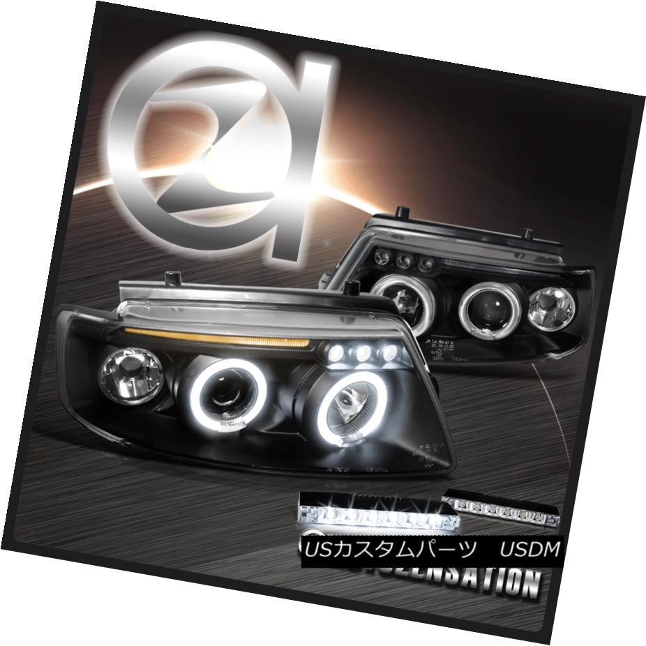 ヘッドライト For 97-00 VW Passat Black Dual Halo Projector Headlights+6-LED DRL Fog Lamps 97-00 VW Passat Blackデュアル・ハロー・プロジェクター・ヘッドライト+ 6-L  ED DRLフォグ・ランプ