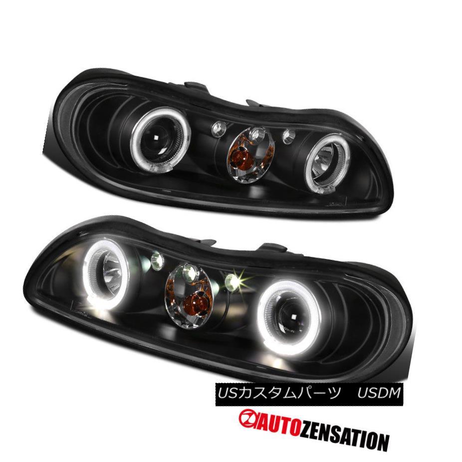 ヘッドライト 97-03 Chevy Malibu Dual Halo Projector LED Headlight Black Classic 97-03シボレーマリブデュアルヘイロープロジェクターLEDヘッドライトブラッククラシック