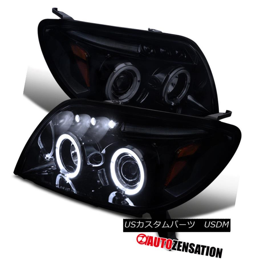 ヘッドライト For 03-05 Toyota 4Runner Glossy Black Dual Halo LED Projector Headlights Pair 03-05 Toyota 4Runner Glossy BlackデュアルハローLEDプロジェクターヘッドライトペア
