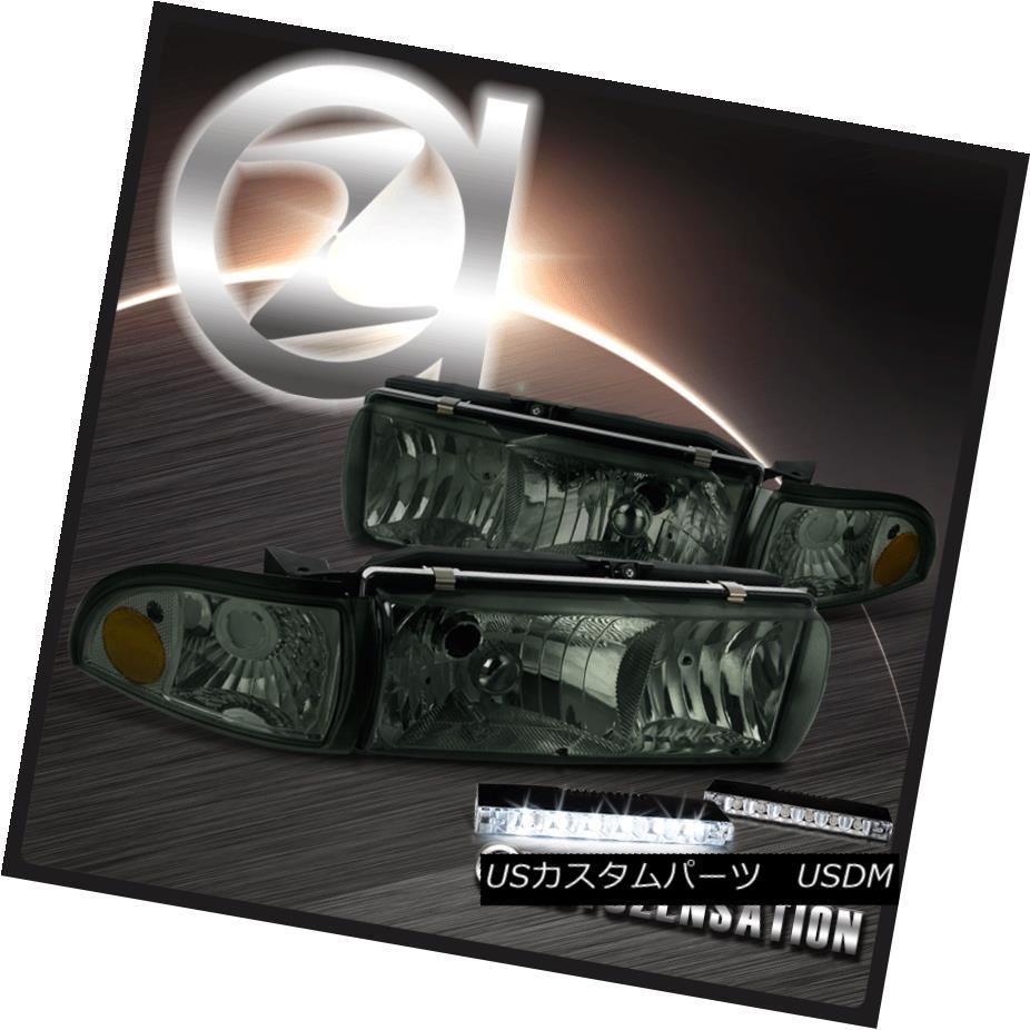 ヘッドライト Chevy 91-96 Caprice 94-96 Impala Smoke Headlights+Corner Lamp+6-LED DRL Fog Lamp シボレー91-96カプリス94-96インパラスモークヘッドライト+オレンジランプ+ 6-LED DRLフォグランプ