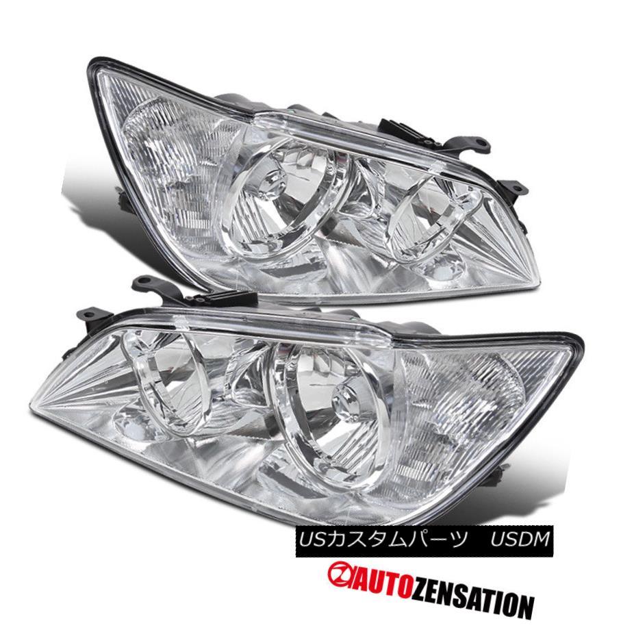 ヘッドライト 2001-2005 Lexus IS300 Replacement Chrome Front Headlights Driving Head Lamp Pair 2001-2005レクサスIS300交換クロームフロントヘッドライトヘッドランプペアを駆動する