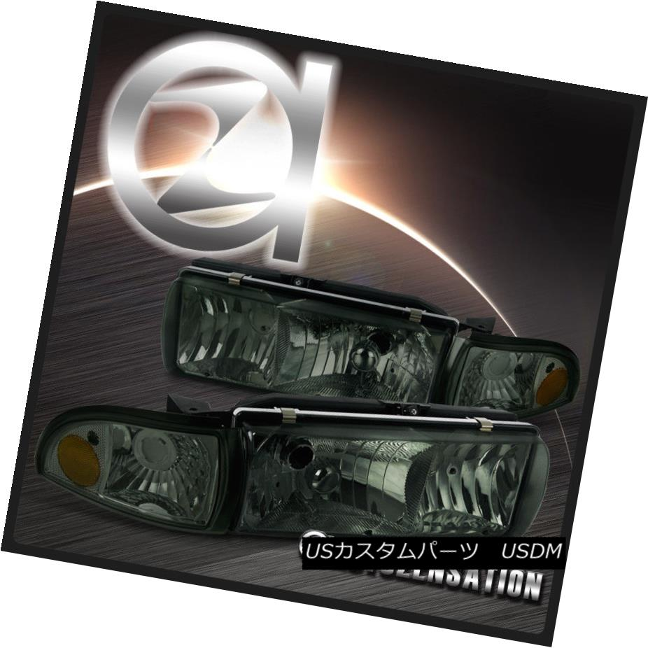 ヘッドライト Chevy 91-96 Caprice 94-96 Impala Smoke Headlights+Tint Corner Signal Lamps 4PC シェビー91-96カプリス94-96インパラスモークヘッドライト+ティン tコーナー信号ランプ4PC