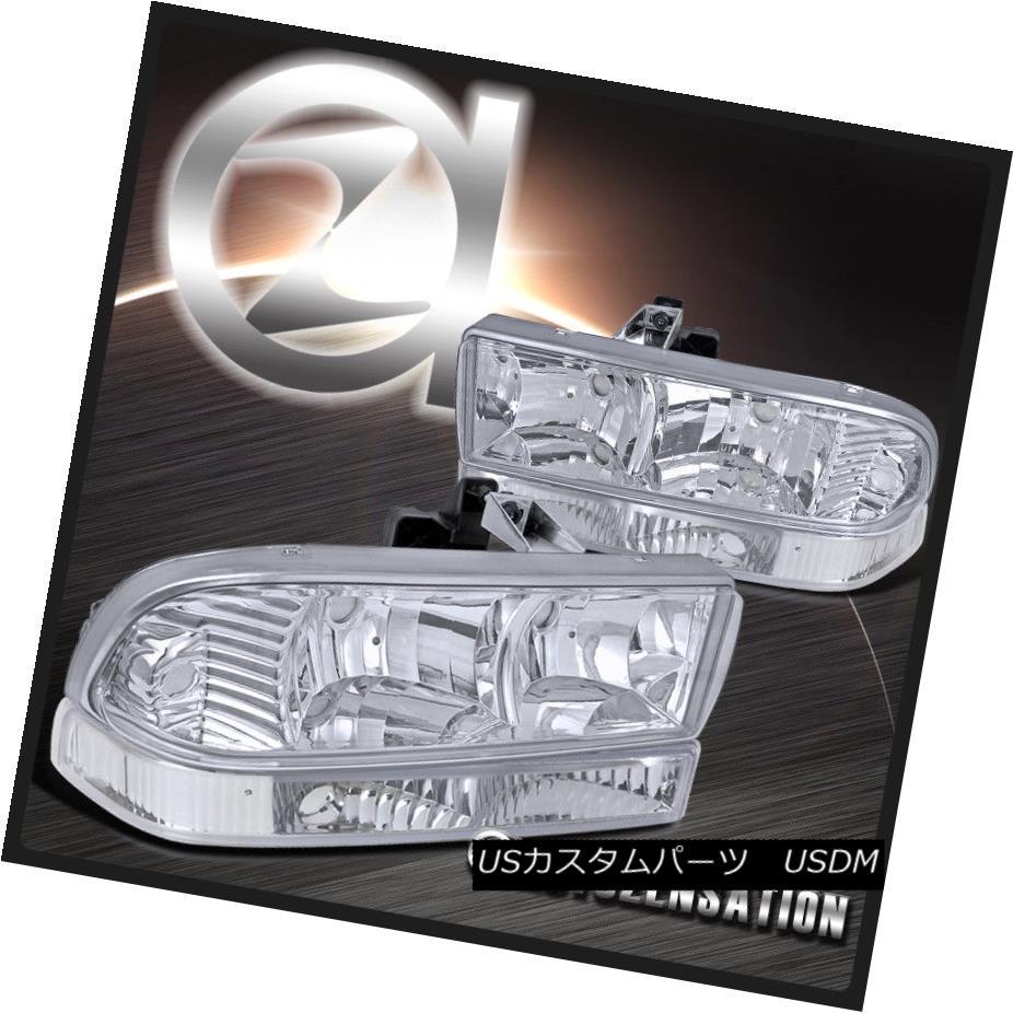 ヘッドライト 1998-2004 Chevy S10 Blazer Pickup Clear Crystal Headlights+Bumper Lamps 1998-2004 Chevy S10 Blazerピックアップクリスタルヘッドライト+バーン /ランプ