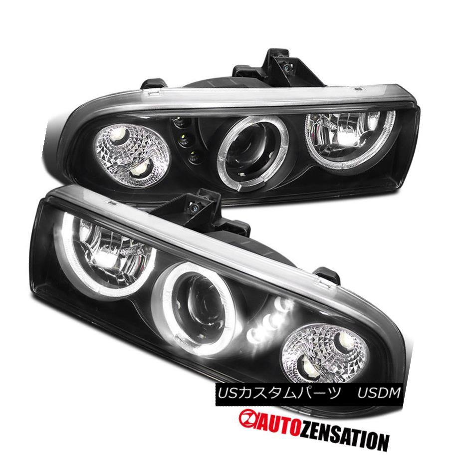 ヘッドライト 1998-2004 Chevy S10 Blazer Halo LED Black Projector Headlights 1998-2004シボレーS10 Blazer Halo LEDプロジェクターヘッドライト