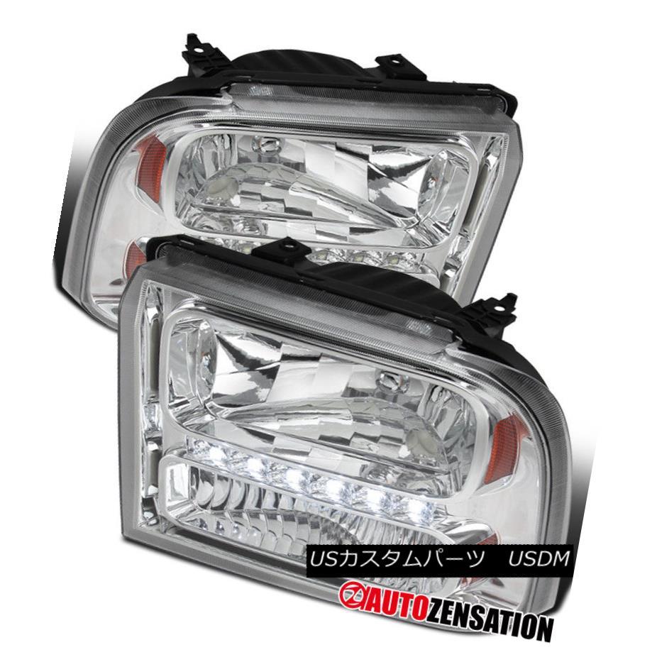ヘッドライト 2005-2007 Ford F250/350/450/550 Super Duty 2005 Excursion Chrome LED Headlights 2005-2007 Ford F250 / 350/450/5  50 Super Duty 2005エクスカーションクロームLEDヘッドライト