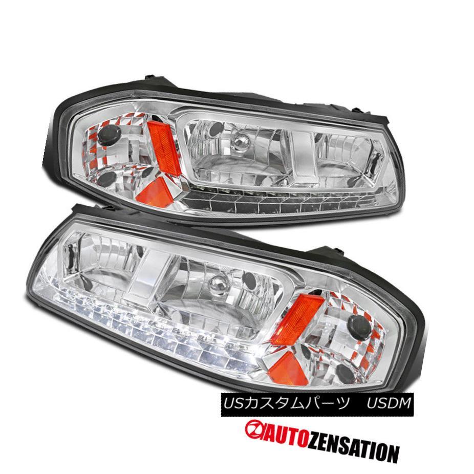 ヘッドライト 2000-2005 Chevy Impala LED DRL Headlights Chrome Clear Pair Left+Right 2000-2005シボレーインパラLED DRLヘッドライトクロームクリアペア左+右