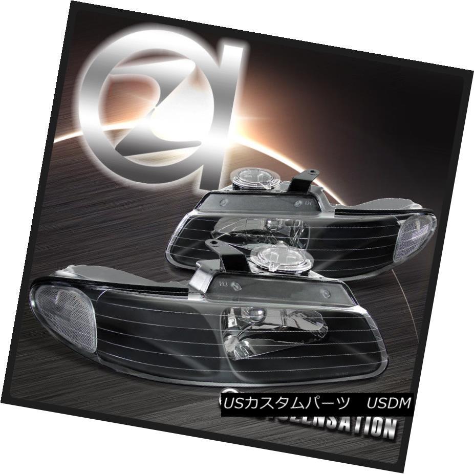 ヘッドライト 96-00 Dodge Grand Caravan Chrysler Town & Country Black Crystal Headlights 96-00 Dodge Grand Caravanクライスラータウン& カントリーブラッククリスタルヘッドライト