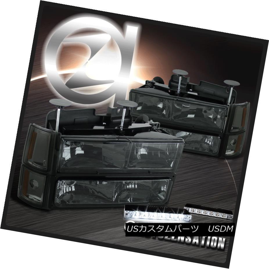 ヘッドライト 94-98 C10 Sierra Yukon Smoke Headlights+Corner Bumper Lamp+6-LED Bumper Fog Lamp 94-98 C10 Sierra Yukonスモークヘッドライト+ Cor  nerバンパーランプ+ 6-LEDバンパーフォグランプ