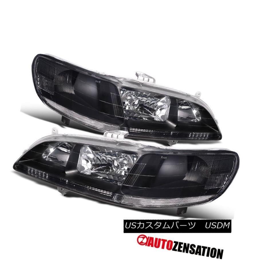 ヘッドライト Fit 98-02 Honda Accord 2Dr 4Dr Black Diamond Headlights Clear Reflector フィット98-02ホンダアコード2Dr 4Drブラックダイヤモンドヘッドライトクリアリフレクター