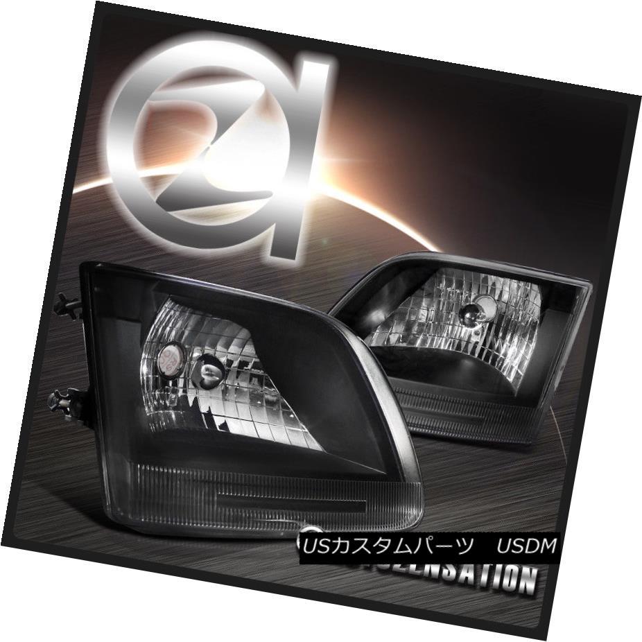 ヘッドライト 97-03 Ford F150/ Expedition Clear Black Crystal Headlights Left+Right 97-03フォードF150 /遠征クリアブラッククリスタルヘッドライト左+右