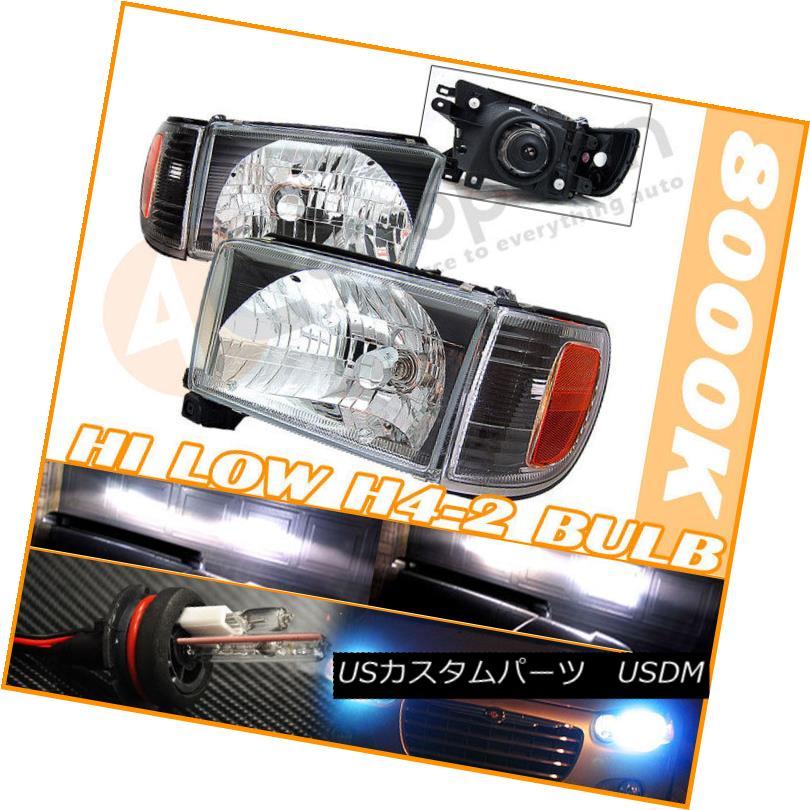 ヘッドライト Fits Hi + Low HID 99-02 Toyota 4Runner Black Headlights Hi + Lowに適合99-02トヨタ4Runnerブラックヘッドライト