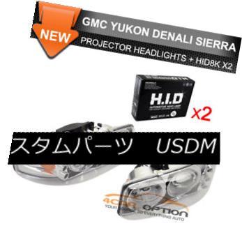 ヘッドライト Fits 2 Set HID 99-06 Sierra Denali Halo Projector Headlights フィット2セットHID 99-06シエラ・デナリ・ハロ・プロジェクター・ヘッドライト