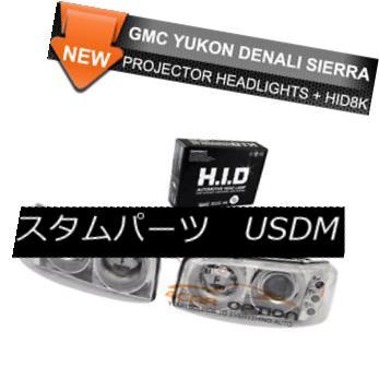ヘッドライト Fits Xenon HID 99-06 Yukon Denali Halo Projector Headlights Xenon HID 99-06 Yukon Denali Haloプロジェクターヘッドライトに適合