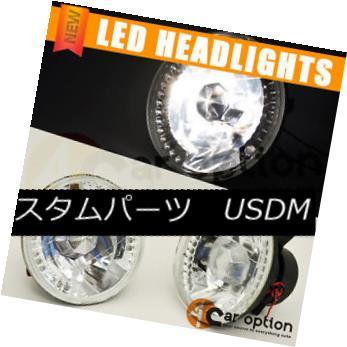 ヘッドライト Fits Crystal Round 5 3 4 Inch 5.75 Inch LED Sealed Beam Conversion Headlights フィットクリスタルラウンド5 3 4インチ5.75インチLED密閉ビーム変換ヘッドライト