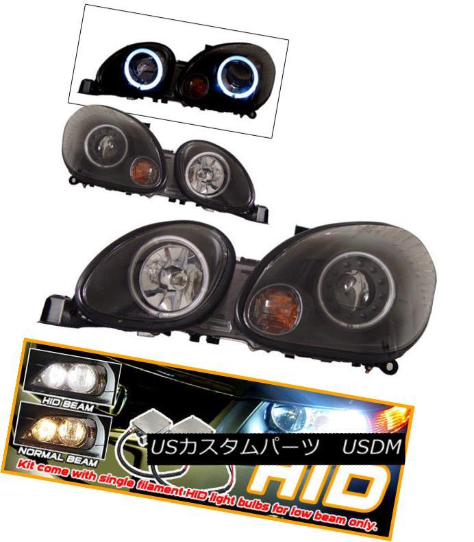 ヘッドライト Fits For Xenon 98-05 GS300 GS400 CCFL Halo Projector Headlights キセノン98-05 GS300 GS400 CCFLハロープロジェクターヘッドライトに適合