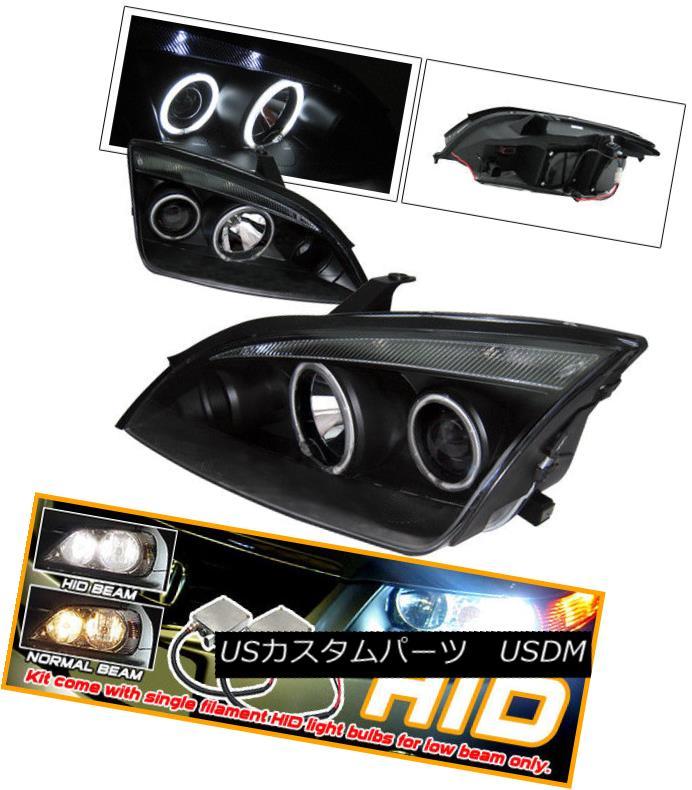 CCFL ヘッドライト Focus Projector Haloプロジェクターヘッドライトに適合 Zx4 Xenon Halo 4Dr Fits 4Dr Headlight CCFL 05-07 05-07フォーカスZx4 Xenon