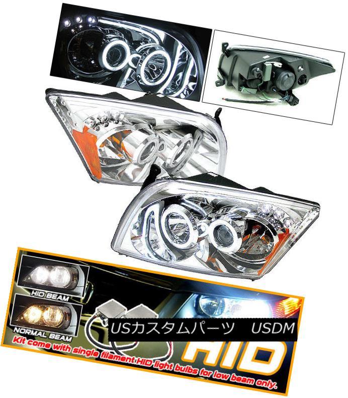 ヘッドライト Fits Xenon 07-10 Dodge Caliber CCFL Halo Projector Headlight キセノン07-10ダッジキャリバーCCFLハロープロジェクターヘッドライトに適合