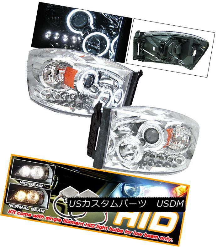 ヘッドライト Fits Xenon 06-08 Dodge Ram CCFL Halo Projector Headlights Xenon 06-08 Dodge Ram CCFL Haloプロジェクターヘッドライトに適合