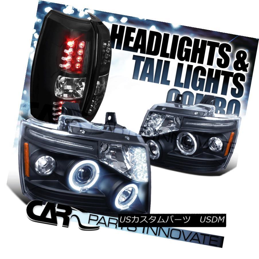 ヘッドライト 2007-2012 Avalanche Black Halo LED Projector Headlights+LED Tail Lamp 2007年?2012年アバランシェブラックハローLEDプロジェクターヘッドライト+ LEDテールランプ
