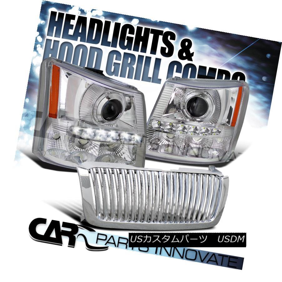 ヘッドライト 03-05 Silverado Avalanche 2in1 Chrome Projector Head Bumper Light+SMD LED+Grille 03-05 Silverado Avalanche 2in1 Chromeプロジェクターヘッドバンパーライト+ SMD LED +グリル