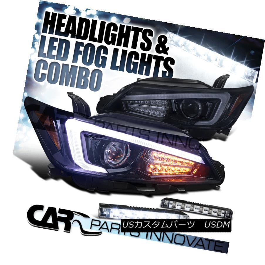 ヘッドライト 11-13 Scion tC Glossy Black Projector Headlights+LED Signal+6-LED Fog Bumper DRL 11-13 Scion tC光沢ブラックプロジェクターヘッドライト+ LED信号+ 6-LEDフォグバンパーDRL