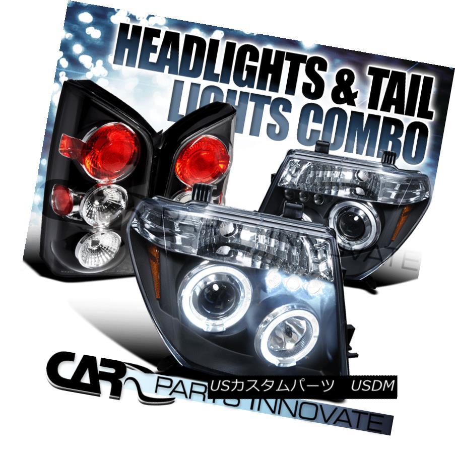ヘッドライト For 2005-2007 Pathfinder Black Halo LED Projector Headlights+Altezza Tail Lamps 2005-2007 Pathfinder Black Halo LEDプロジェクターヘッドライト+ Alt  ezzaテールランプ