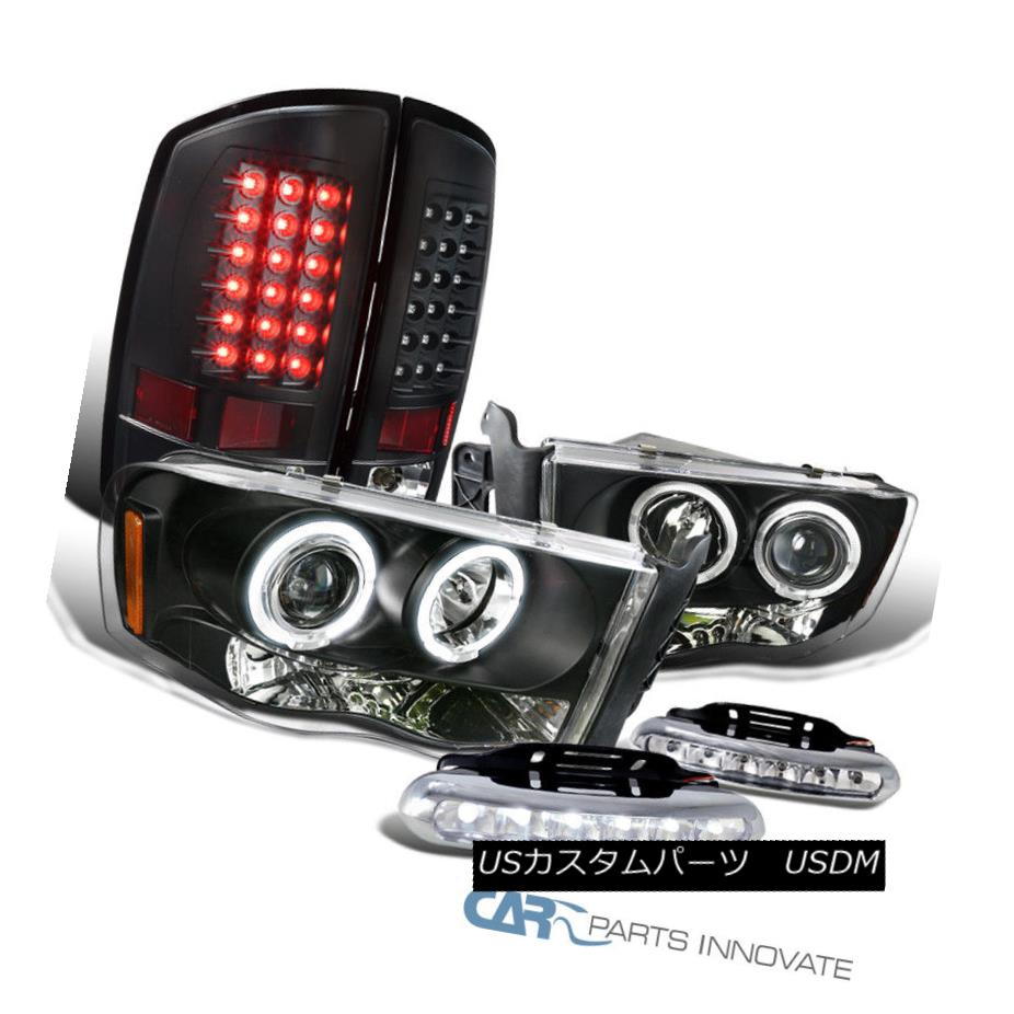 ヘッドライト 02-05 Ram 1500 2500 Black Halo Projector Headlights+Tail Lamps+6-LED Fog Lamps 02-05 Ram 1500 2500ブラックハロープロジェクターヘッドライト+タイ lランプ+ 6-LEDフォグランプ