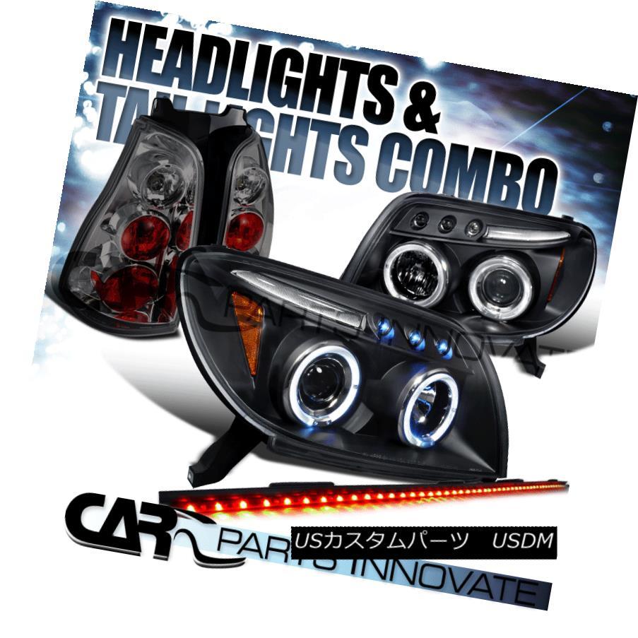 ヘッドライト For 03-05 4Runner Black Projector Headlights+Smoke Tail+49