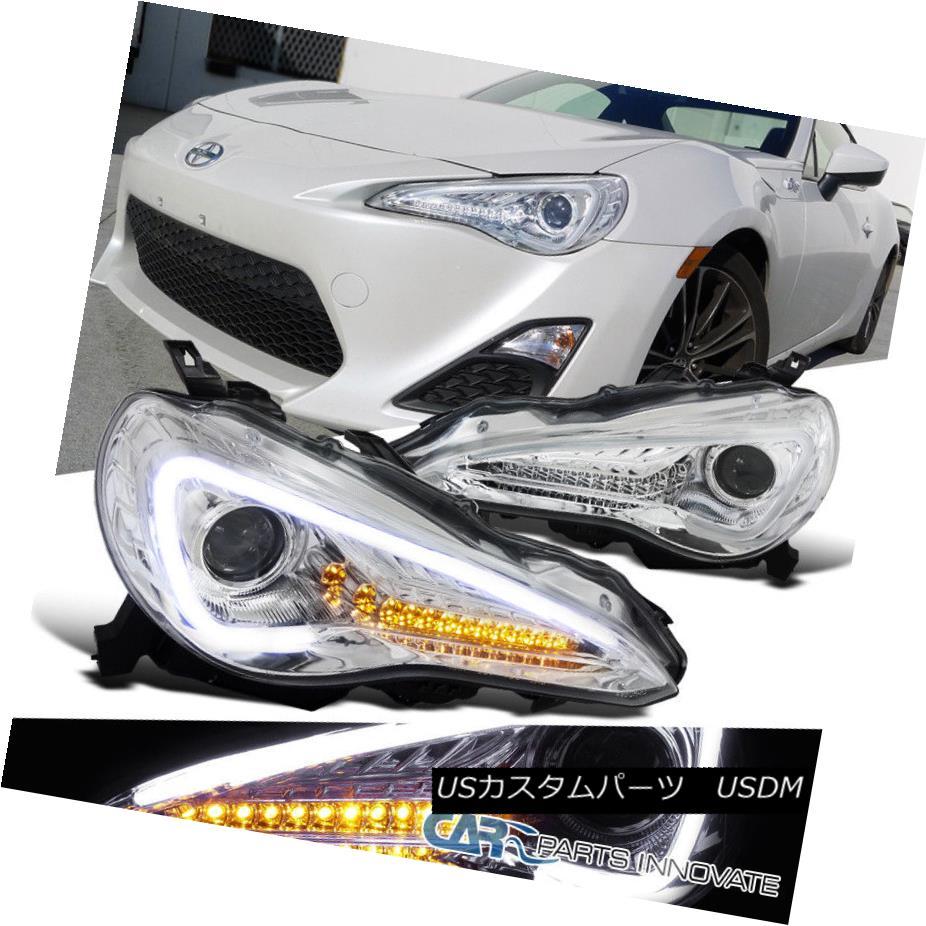 ヘッドライト Fit 12-17 Scion FR-S Toyota 86 Clear LED Projector Headlight+Amber LED Signal フィット12-17サイオンFR-Sトヨタ86クリアLEDプロジェクターヘッドライト+アンバー r LED信号