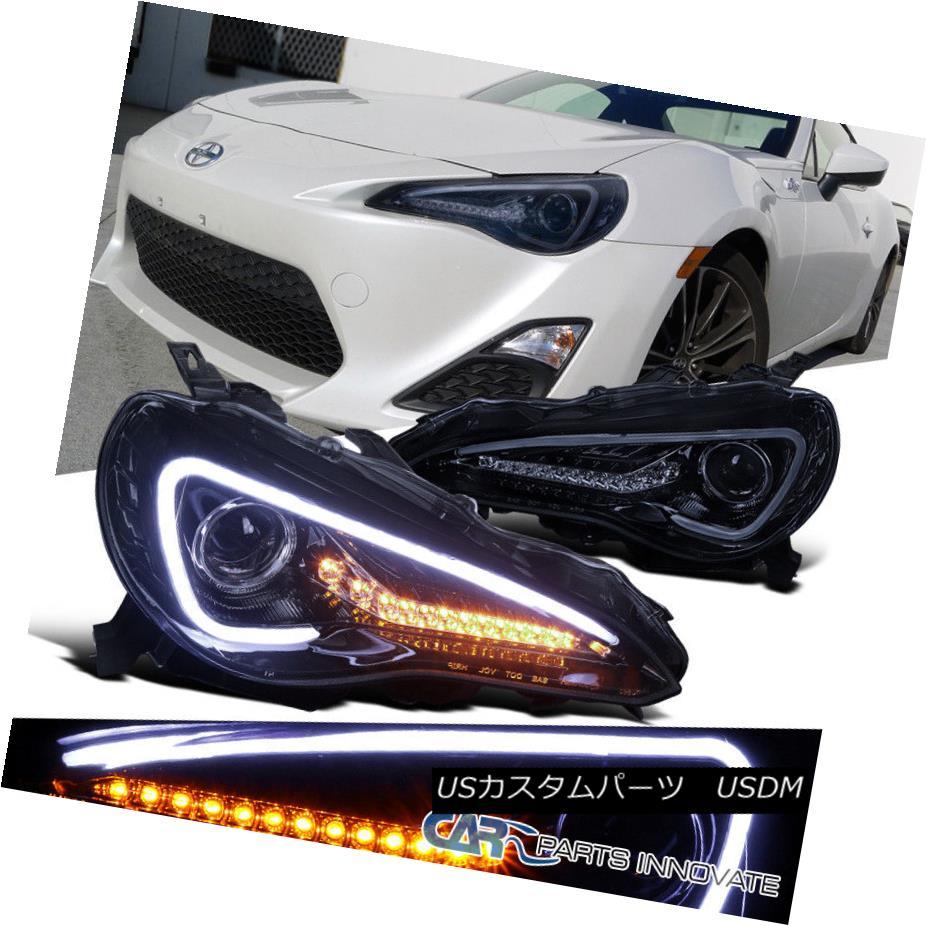 ヘッドライト Glossy Black For 12-17 Scion FR-S 86 Projector Headlights w/ LED DRL & Signal 光沢のあるブラック12-17サイオンFR-Sのための86プロジェクターヘッドライトLED DRL& 信号