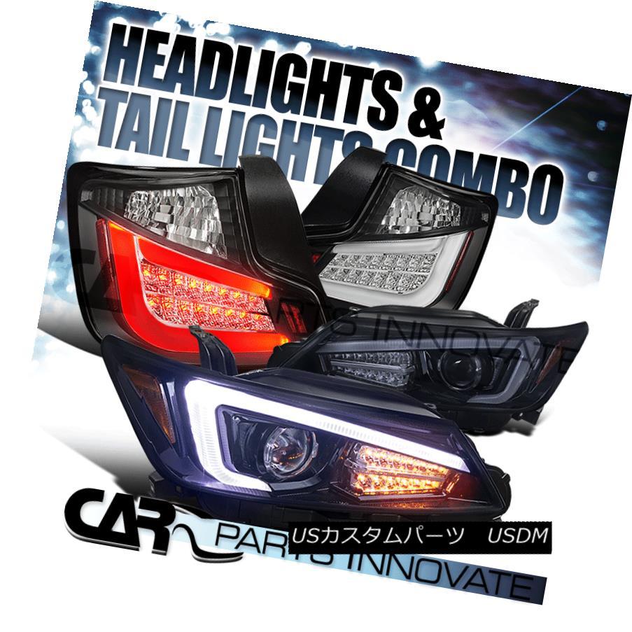 ヘッドライト 11-13 Scion tC Glossy Black Projector Headlights+LED Signal+Black LED Tail Lamp 11-13 Scion tC光沢ブラックプロジェクターヘッドライト+ LED信号+ブラックLEDテールランプ
