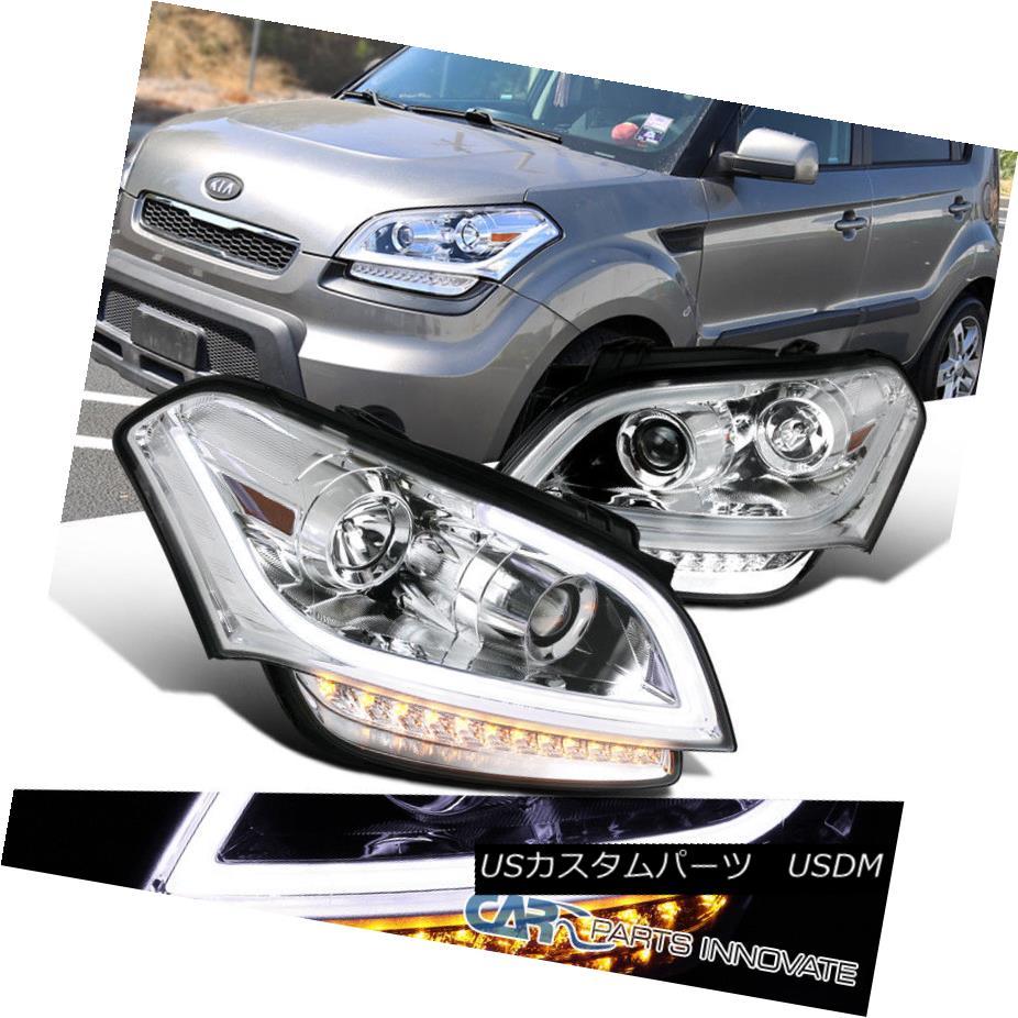 ヘッドライト For 10-11 Kia Soul Clear Lens Projector Headlights Head Lamps+LED DRL Signal 10 - 11キアソウルクリアレンズプロジェクターヘッドライトヘッドランプ+ LED DRL信号
