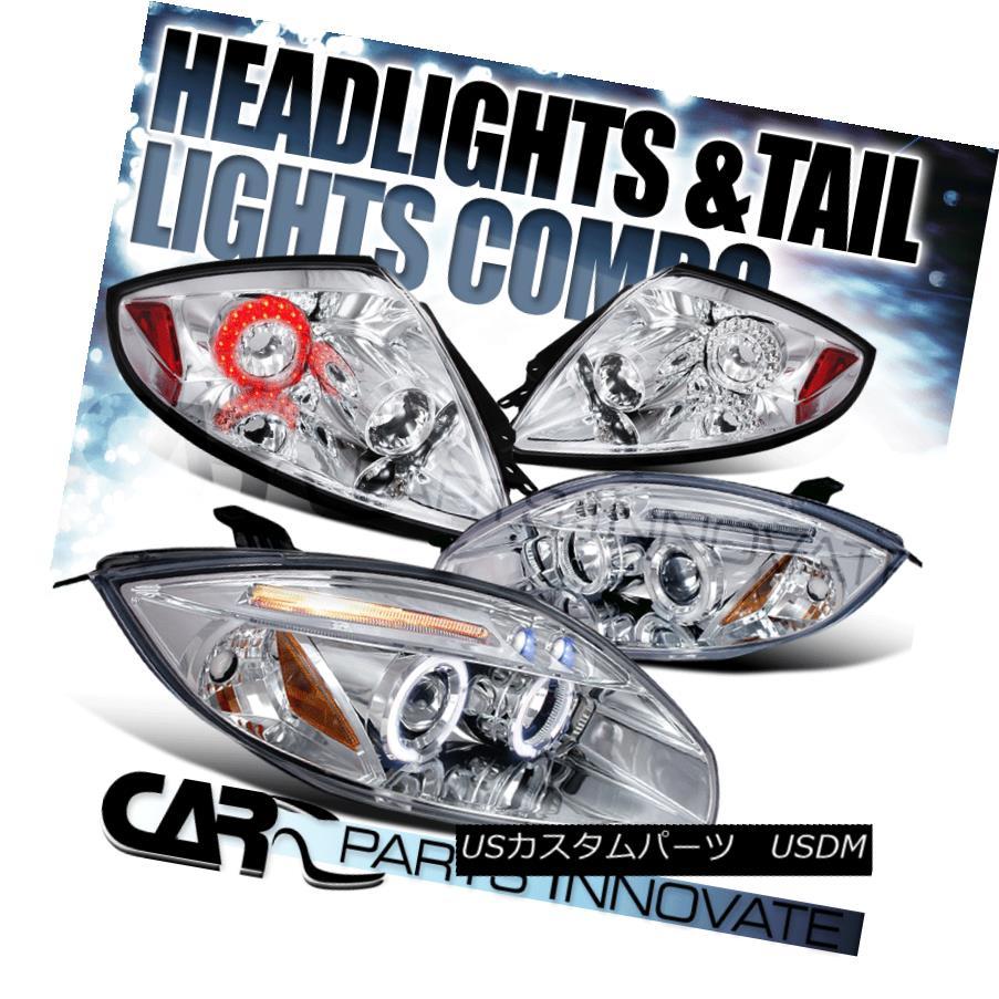 ヘッドライト 06-11 Eclipse Chrome Dual Halo Projector Headlights+Clear LED Tail Lamps 06-11 Eclipseクロームデュアルハロープロジェクターヘッドライト+ Cle  ar LEDテールランプ