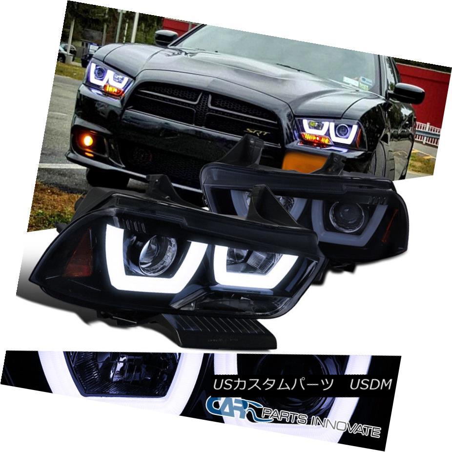 ヘッドライト Dodge 11-14 Charger Glossy Black