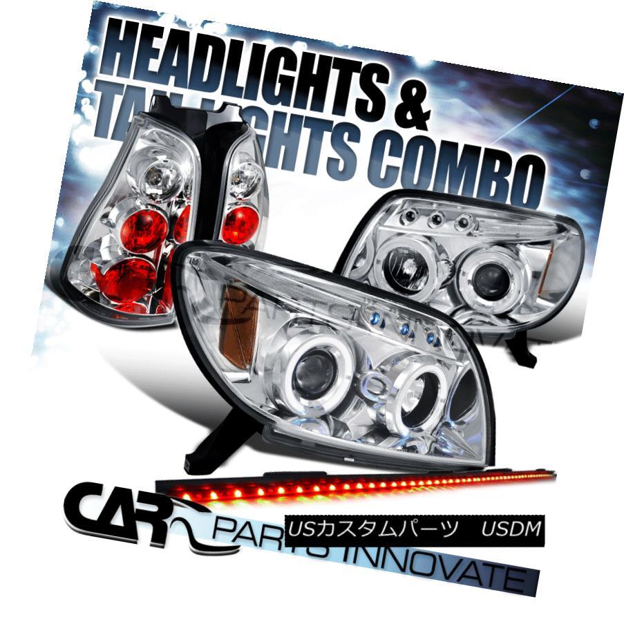 ヘッドライト Fit 03-05 4Runner Clear Projector Headlights+Tail Lights+49