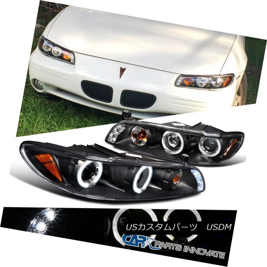 ヘッドライト Pontiac 97-03 Grand Prix LED Halo Projector Headlights Lamp Black ポンティアック97-03グランプリLEDハロープロジェクターヘッドライトランプブラック