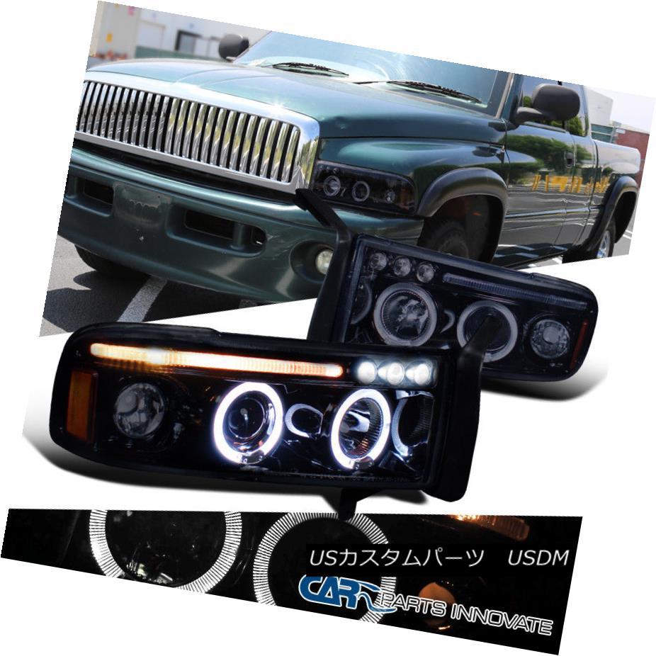 ヘッドライト Glossy Black 94-01 Dodge Ram 1500 2500 3500 Smoke LED Projector Headlights Lamps Glossy Black 94-01 Dodge Ram 1500 2500 3500 Smoke LEDプロジェクターヘッドライトランプ