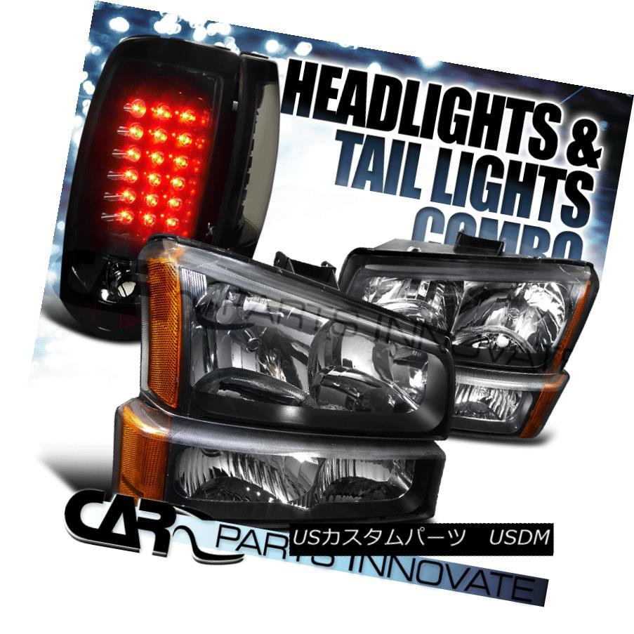 ヘッドライト 03-07 Chevy Silverado Black Headlights+Bumper Lamps+Glossy Black LED Tail Lights 03-07 Chevy Silverado Blackヘッドライト+ Bum 、ランプごとに+光沢のある黒色LEDテールライト