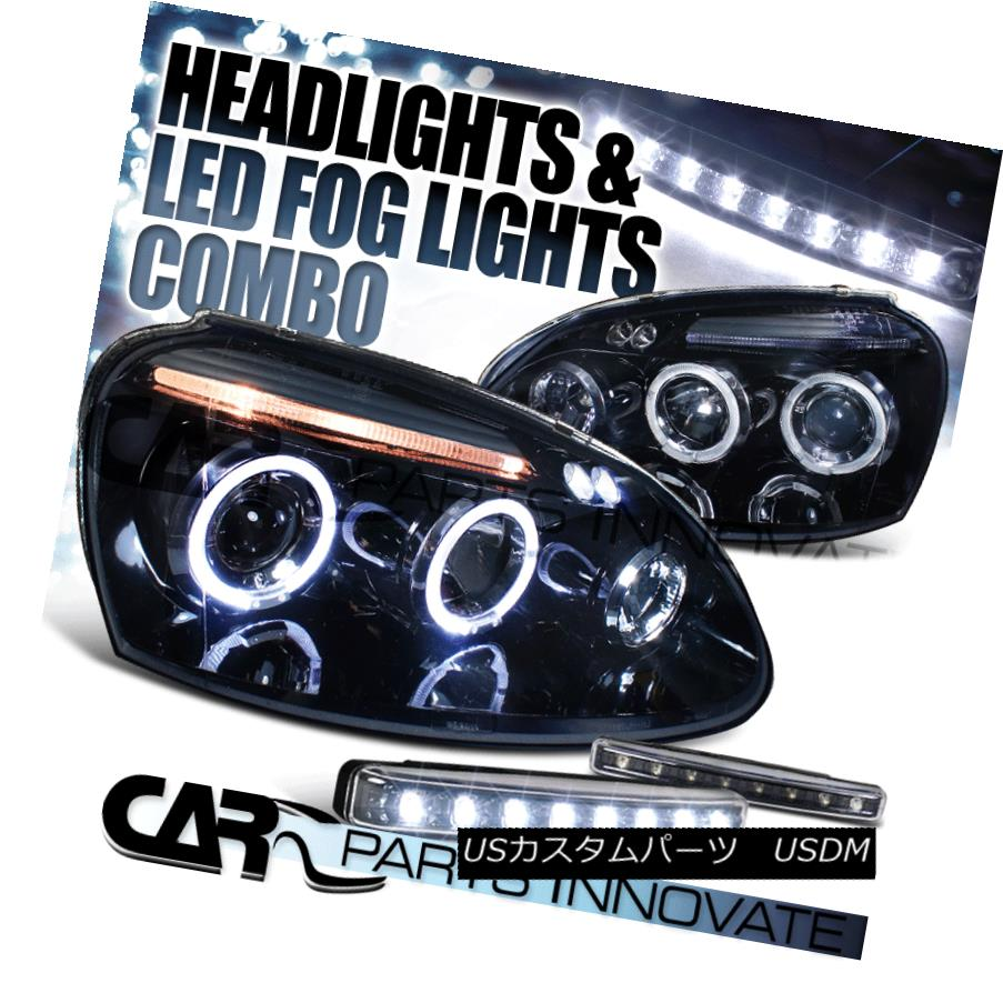 BMW 5Series E39 97-03 Halo Projector Head Lamp Lights Chrome