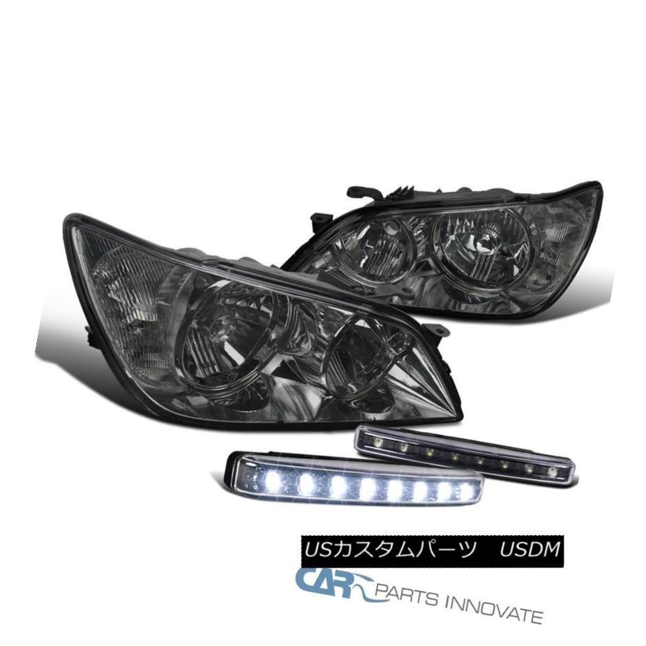 ヘッドライト 01-05 Lexus IS300 Smoke Lens Headlights+Black 8-LED DRL Fog Lights Bumper Lamps 01-05 Lexus IS300スモークレンズヘッドライト+ Bla  ck 8-LED DRLフォグライトバンパーランプ