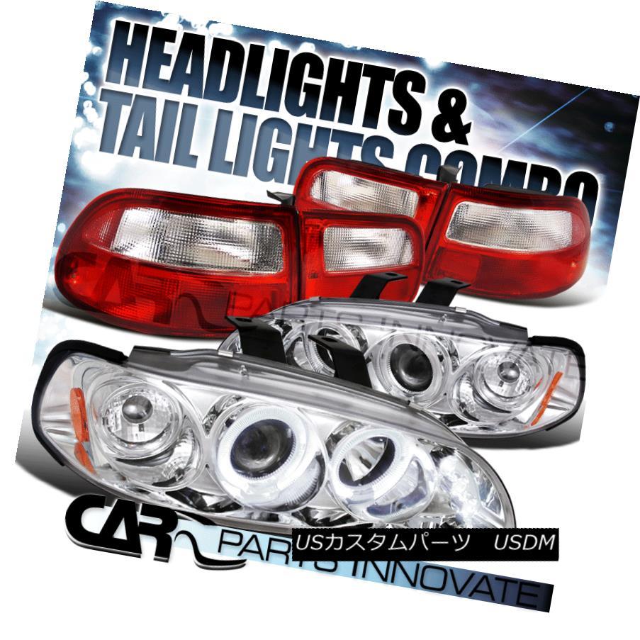 98-04 Intrepid Halo Chrome Projector Headlights+LED Bumper Fog Lamps